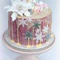 Winter Dream Dripping Cake
