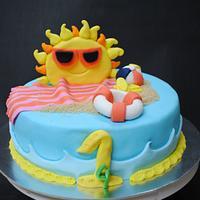 Summer vacation cake