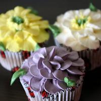Floral Cupcakes by creamblooms