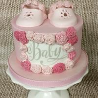 Roses babyshower Cake