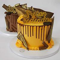 Orange and Chokolate Drip Cake