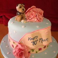Cath Kidston inspired 70th cake