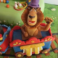 Madagascar Circus Cake by Silvia Costanzo