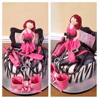 Hairdressing Themed Cake