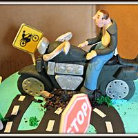 Motorcycle lovers cake by Jessica Chase Avila