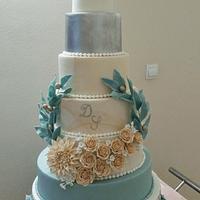 7 tiers cake wedding