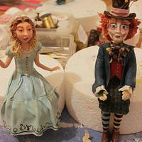 Modelling Chocolate Alice in Wonderland figures