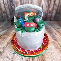 Mutant Ninja Teenage Turtles cake