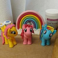 My little pony fondant models.