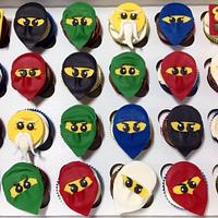 8th Birthday Ninjago Cupcakes