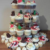 Wild Wild West Cupcake tower by Cupcakecreations