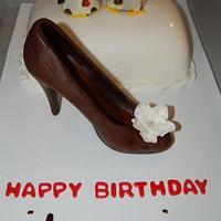pinguin & chocolate shoe