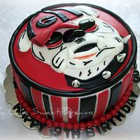 Georgia Bulldog Birthday Cake