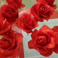 Ruby Wedding Anniversary Cake by JudeCreations
