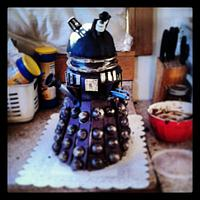 Dalek cake for Dr. Who Christmas special