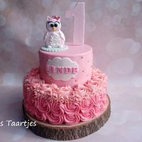 girls cake owl