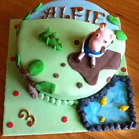 George The Pig Cake