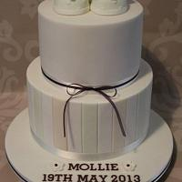 Little Shoes Christening Cake.