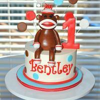 Sock Monkey Smash Cake