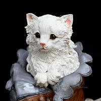 Vintage...The cat in the old woman's Shoe