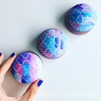 Moroccan Watercolor Cupcakes