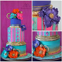 Bollywood indian style cake