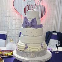 My first big wedding cake
