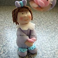 Little girl cake topper