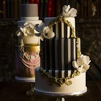 Frame Cakes - Stripes and Lace & Pearls