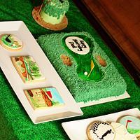 Golf Theme Cake & Cookies
