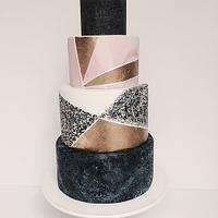 Geometric Luxe Wedding Cake