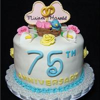 75th Wedding Anniversary by Toni (White Crafty Cakes)