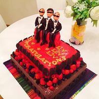 Kind of Gangam style cake:)