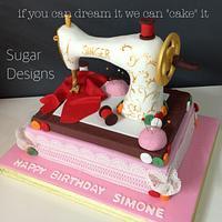 Sewing Singer Machine cake
