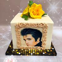 Elvis and. Yellow. Roses