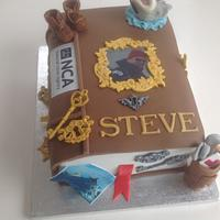 Closed book 'Memories' cake