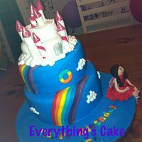 Rainbow Fairies cake with Poppy the Cake Fairy
