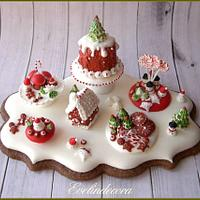 Royal icing cookie: Christmas miniature 🎄