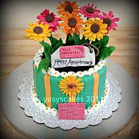 Daises Flowers Cake