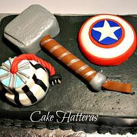Avengers Grooms Cake
