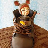 a mouse in the old boot ... by Jane Hudson