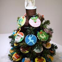 Cupcake Xmas Tree