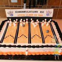 Bowling Alley Grad Cake
