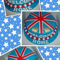 Welcome home, Union Jack cake