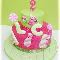 Summer birthday cake