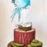 """ Wafer Paper Bird Cake """
