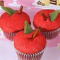 Red Apple Red Velvet Cupcakes