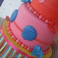 hawaiian themed cake