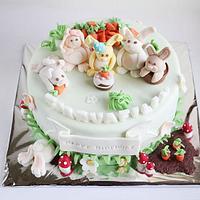 Easter/Bunny Birthday Cake
