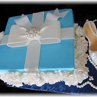 Tiffany Inspired Box Cake